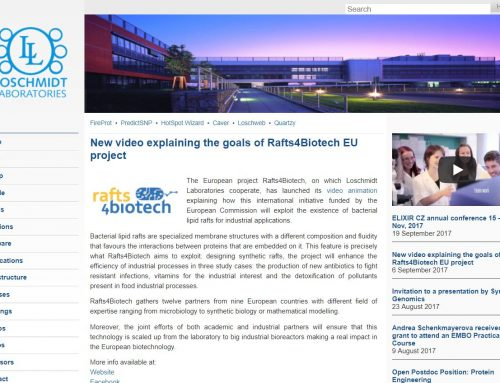 New video explaining the goals of Rafts4Biotech EU project – Loschmidt Laboratories